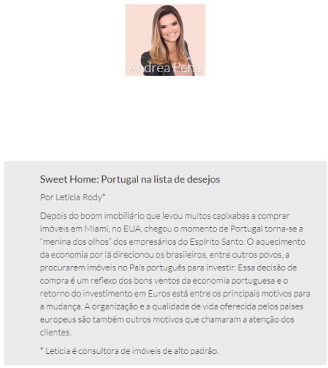04/11/2017 - Folha Vitória / Coluna Andrea Pena