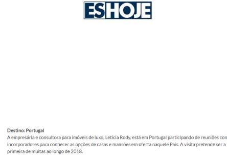 29/11/2017 - Site Jornal ES Hoje- Coluna Social