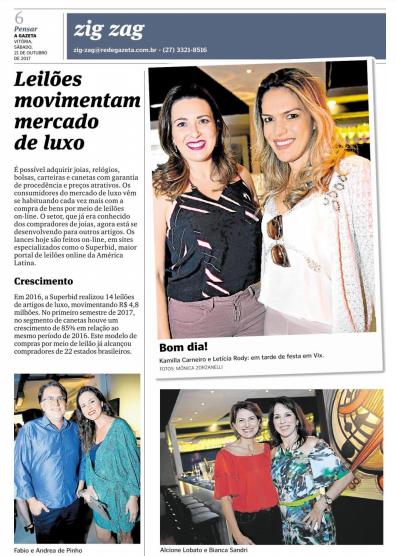 21/10/2017 - A Gazeta - Caderno 2 / Zig Zag