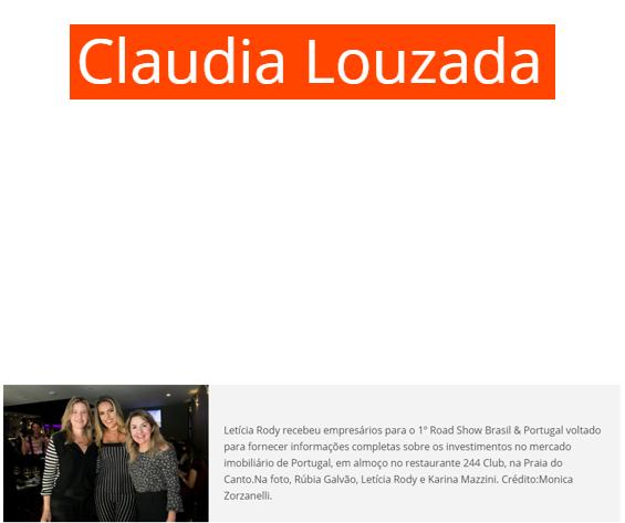 14/11/2017 - Site O Estado do Espirito Santo / Coluna Claudia Louzada